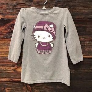 H&M Hello Kitty Long Sleeve Sweater Dress SZ 4-6Y